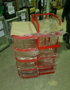Корзина для выкладки и хранения товара 1100х590х770 (новая)