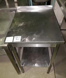 Стол производственный 600*500 с бортом БУ