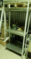 Стеллаж из нержавеющей стали 800х300х1800 для посуды БУ