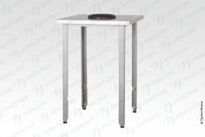 """Стол производственный СПРн - 600*800*860 """"Norma Inox"""", борт, сбор отходов - базовый элемент"""