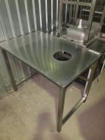 Стол для отходов 1100*700*860  из нержавеющей стали БУ