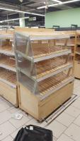 Стеллаж деревянный 100*600 мм БУ