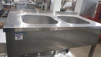 Ванна моечная 2-ух секционная с бортом 1200*600 мм БУ