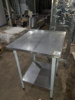 Стол разделочный 600*600 мм с бортом БУ