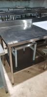 Стол производственный с бортом 800*700*860 мм БУ