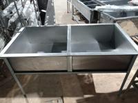 Ванна моечная 2 секции 1550*800 мм БУ