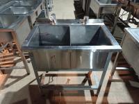 Ванна моечная 2ух секционная 900*600 мм, борт БУ