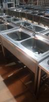 Ванна моечная 2ух секционная 1200*600 мм БУ